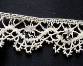 Bobbin lace edging, all my lace is handmade.