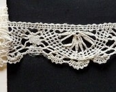 very nice  lace edging, all my lace is handmade.