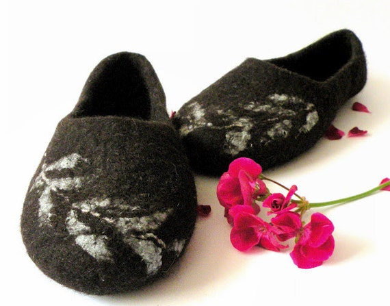 Felted slippers Fern