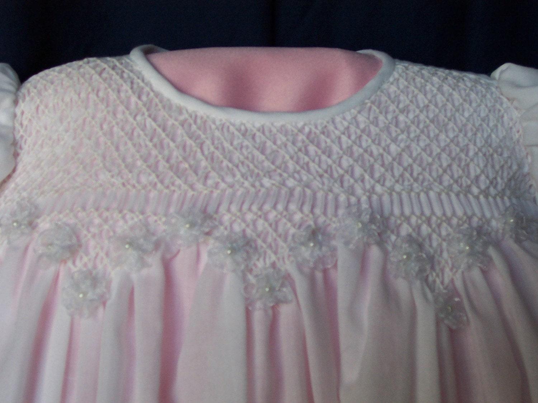 Hand Smocked Christening Blessing Dress