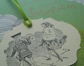 Alice In Wonderland Humpty Dumpty, Gift Tag, Favor