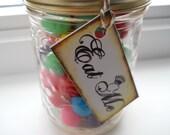 Alice in Wonderland Wedding, Party - EAT ME Tags - vintage
