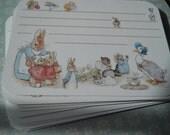 Peter Rabbit cards, Peter thank you Peter rabbit cards, Peter rabbit, baby shower theme, Peter favor tag, beatrix potter, Peter rabbit theme