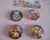 Kawaii Vintage Retro Baby Animals  Magnets, Favor Gift