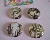 Tea Party Vintage Magnets, Favor Gift