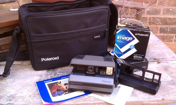 Reserved for Pam REDUCED Polaroid Spectra AF Camera Heath Cam System Unexposed Film 40 Sheets Close Up Lens Carrying Case