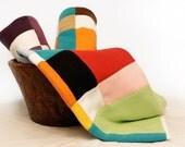 Kaleidoscope Patchwork Fleece Blanket