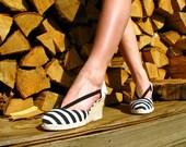Vintage Striped Wedges : Take 25% OFF