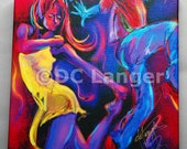 GICLEE canvas art print,  - Put On Your Red Shoes and Dance- Contemporary art by DC Langer