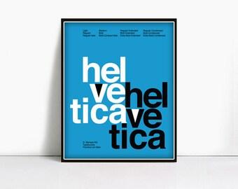 16x20 Gicleè Suisse Swiss Helvetica Type Specimen Poster