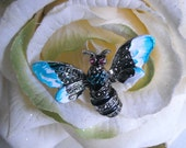 Vintage Bumble Bee Brooch / Pin