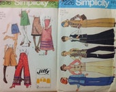 1970s Simplicity Patterns Pants, Skirt, Vest