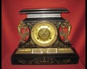 Antique Victorian Ansonia mantle Clock 1882
