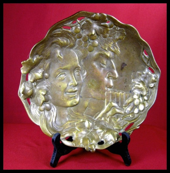 Bronze Footed Fruit Bowl   c1900