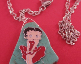 """Girlfriend Alert.  Gift your most """"FUNLOVING"""" Girlfriend with this BETTY BOOP Necklace"""