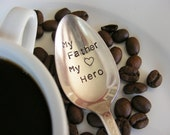 Coffee Spoon Hand Stamped Coffee Spoon