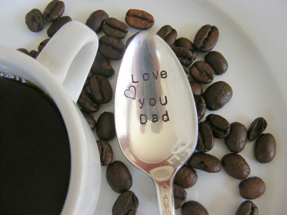 Father's Day Hand Stamped Coffee Spoon