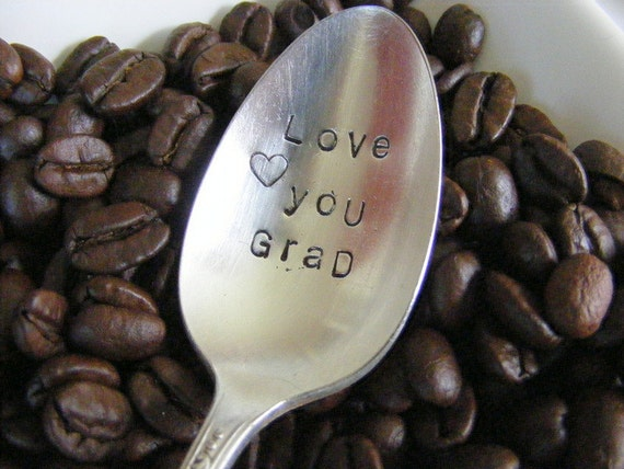 Hand Stamped Coffee Spoon Graduation Gift