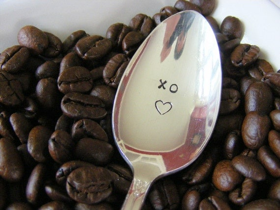 Valentine's Day Hand Stamped Spoon XO Sweetheart Spoon