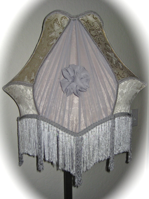 Large Vintage Style Victorian Lampshade