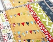 Bunting Celebration- Handmade Quilted Potholders - Set of Two