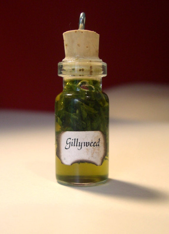 Gillyweed Charm - Wizard Potions Ingredient and Ball Chain