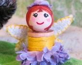 Flower Fairy Spool Doll