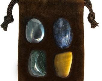 CANCER - Zodiac STONE KIT Crystal Healing Gemstone Set, Meditation Stone Set, Astral Stones, Birthstones, Tumbled Gemstones, 4 Stones