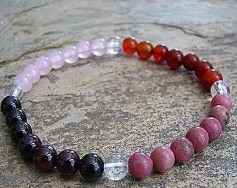 SOULMATE- Crystal Energy MEDITATION BRACELET -  Intention Bracelet, Yoga Jewelry, Energy Bracelet, Affirmation Mala Bracelet