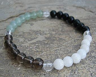 good luck- Crystal Energy MEDITATION BRACELET -  Intention Bracelet, Yoga Jewelry, Energy Bracelet, Affirmation Mala Bracelet