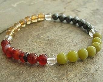 CLEANSING- Crystal Energy MEDITATION BRACELET -  Intention Bracelet, Yoga Jewelry, Energy Bracelet, Affirmation Mala Bracelet