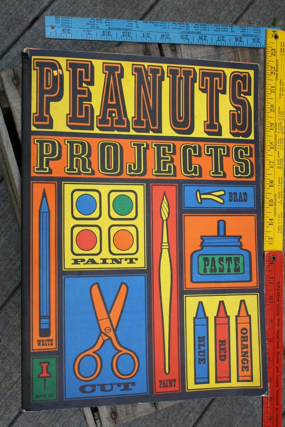 Peanuts Projects Book 1963 Snoopy Charlie Brown 1st Edition Charles M. Schulz Collectible Great Pumpkin Mystery Play SALE REDUCED