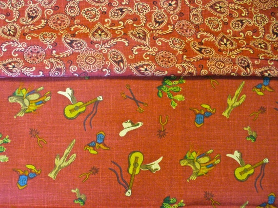 western home decor fabric cowboy western bandana fabric waverly home decor 1 plus yard 11821