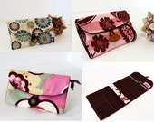 Jewelry Roll Organizer - Custom Made - You choose your fabric - Regular Size by UpUrAly