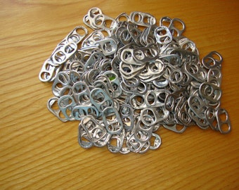 Soda Can Pop  Tabs,  320 Pull Tabs, Craft Supply