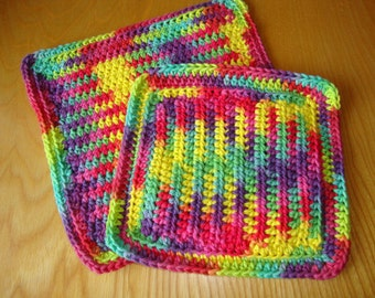 Crocheted Wash or Dish Cloths - 2