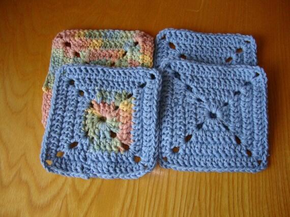 Face scrubbies crochet cotton 4 wash clothes