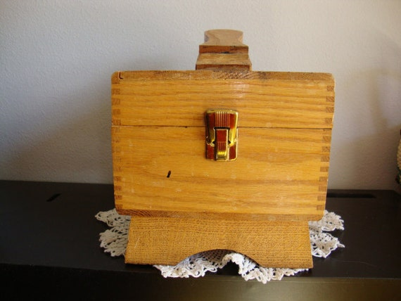 Vintage Wooden Shoe Shine Box
