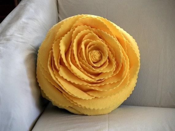 A Sunny Yellow Rose Pillow