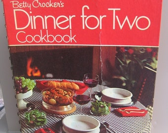 Vintage 1973 First Printing BETTY CROCKER'S Cookbook for Two