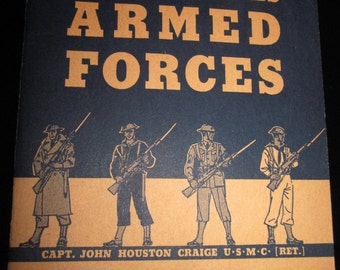 1942 Guide to the United States Armed Forces Booklet by Capt. John Houston Craige - World War II Era