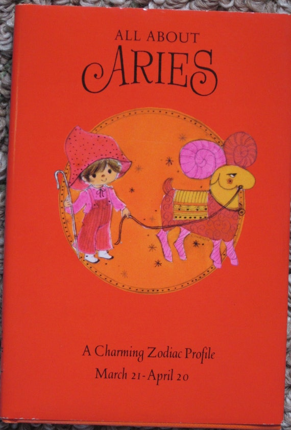 Adorable 1970 All About Aries HALLMARK Illustrated Book