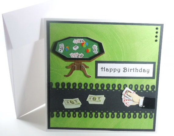 Handmade Birthday Card    POKER