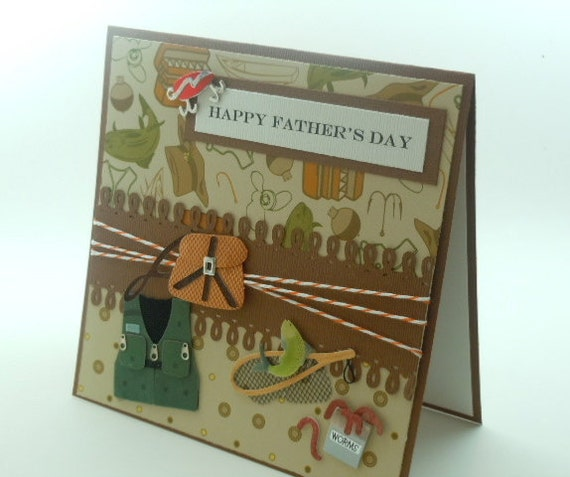 Handmade  Father's Day  Card  Fisherman