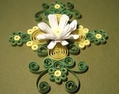 paper quilled card, handmade card and envelope,any occasion