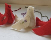 Christmas Doves and Cardinals