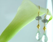 Mint Green Amethyst Earrings, Everyday Jewelry, Holiday Gifts for Her