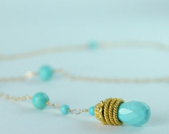 Turquoise Pendant Necklace, December Birthstone Gift Ideas, Holiday Gifts for Her