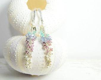 Cluster Gemstone Earrings, Sparkling Gemstone Earrings, Dazzling Gemstone Earrings, Holiday Party Ideas, Black Friday Etsy, Free Shipping