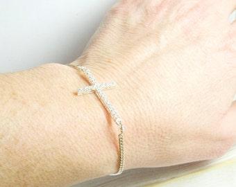 Side Cross Gifts, Side Cross Bracelet, Cross Jewelry, Christian Cross Jewelry, Christian Cross Bracelet, Side Cross Jewelry for Everyday